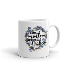"""Non mortem, somni fratrem"" - Maggie Stiefvater, The Dream Thieves - Ceramic - Dishwasher safe - Microwave safe - Available in 11 oz White, glossy"