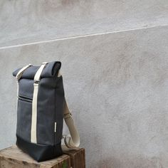 The AHTI backpack is designed an made on Suomenlinna Island, Finland. Leather Backpack, Backpacks, Grey, Bags, Fashion, Gray, Handbags, Moda, Leather Backpacks