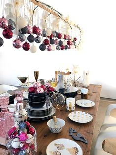 Gold, pink and orchids combine for a stunning Christmas table setting at Target Australia 2015.