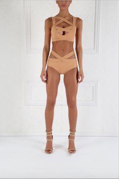 Nude Brazil Cutout Bikini