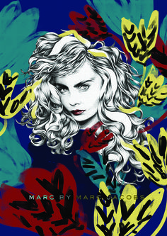 #Fashion #Illustrator #monochromatic #pencils #illustration #MarcJacobs