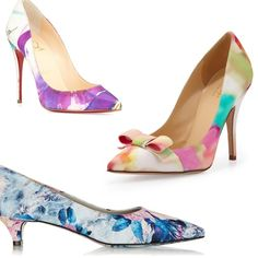 Rank & Style | Top Ten Fashion and Beauty Lists - Floral Pumps #rankandstyle #toptens #florals