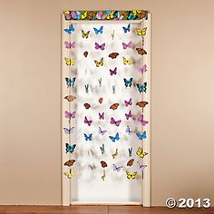 Butterfly Hanging Doorway Curtain $6.50