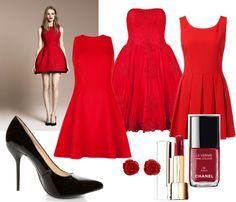 """""""RED"""" by marcellachristian97 on Polyvore"""