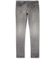 JOHN ELLIOTT The Cast 2 Slim-Fit Tapered Distressed Denim Jeans. #johnelliott #cloth #jeans