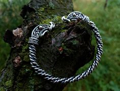 Ragnar Lothbrok Bracelet Sterling Silver Viking by BerlogaWorkshop