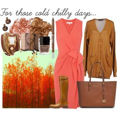 Work Outfit I Coral & Cognac I