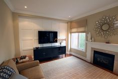 Full Wall Wainscoting in Living Room in a House, Mississauga