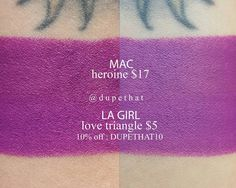 Mac Heroine, Makeup Things, Make Up Dupes, Dose Of Colors, Cruelty Free Makeup, Wig Making, Makeup Set, Ways To Save Money, Triangle