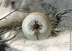 """Купить Кулон """"Невесомость"""" из полимерной глины - кулон, кулон под шею, круглый кулон, сухоцветы"""