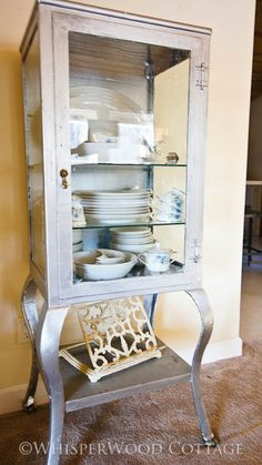 KAH says: inspiration only. Check the curved legs! Would need to figure out how to add another shelf to the top