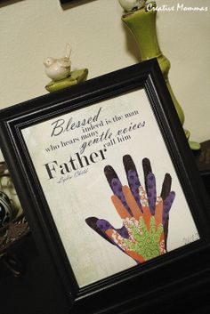 framing handprints | found a quote online printed it on cardstock and