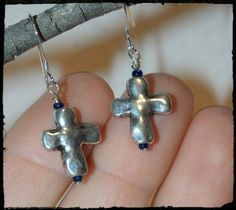 Check out this item in my Etsy shop https://www.etsy.com/listing/231148085/petite-silver-crosses