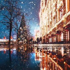 The winter in Moscow might be bitterly cold but it's also be magical – especially if you see it through the eyes of photographer Kristina Makeeva. She was able to capture the city as if it were a winter wonderland. Travel Pictures, Cool Pictures, Cool Photos, Wonderful Places, Beautiful Places, Beautiful Life, Wonderful Time, Moscow Winter, Meditation France