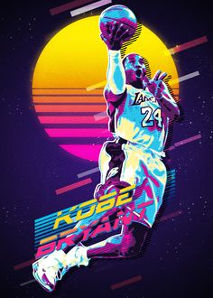 Kobe Retro Awesome posters printed on metal<br> See amazing artworks of Displate artists printed on metal. Easy mounting, no power tools needed. Kobe Bryant Lakers, Kobe Bryant 24, Fox Sport, Poster Sport, Kobe Bryant Michael Jordan, Kobe Bryant Family, Kobe Bryant Pictures, Nba Pictures, Kobe Bryant Black Mamba
