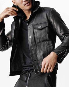 #GQforGap 【En Noir/Rob Garcia】 Jacket (¥29,900/ID:142792) Sweatpant (¥8,900/ID:142775) ※一部限定店舗とオンラインストアにて販売  ■オンラインストアはこちら http://www.gap.co.jp/browse/division.do?cid=5063
