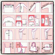 "Measuring "" How To"" A helpful guide on how to take measurements. Courtesy of @poshlawyer?? Check out her awesome closet while your at it?? Other"