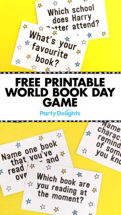 Celebrate World Book Day 2017 with this free printable World Book Day game! A fun World Book Day activity for schools, simply download out free printable game cards, cut them out and let the game begin!