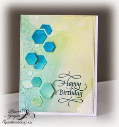 MFT, Hexagon dies, Quiefire Design, Diana Nguyen, birthday