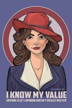 Know Your Worth || by Karen Hallion || Peggy Carter