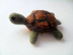 Small needle felted turtle by Crystalcat1989 #kids #toys #felt