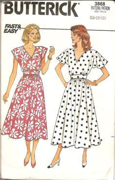 Check out this item in my Etsy shop https://www.etsy.com/listing/182965534/1980s-sewing-patterns-vintage-dress