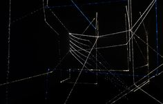 3D drawing with fibre optic light cable on Behance  //light spiderweb?!