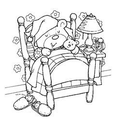 Teddy Bear Coloring Sheets