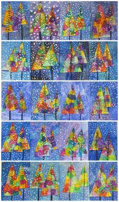 winter art lesson * winter art _ winter art projects for kids _ winter art projects _ winter art for kids _ winter art projects for kids preschool _ winter art projects for kids elementary _ winter art lesson _ winter art for toddlers Christmas Art Projects, Winter Art Projects, Winter Crafts For Kids, Christmas Crafts For Kids To Make At School, Winter Ideas, Parent Christmas Gifts, Winter Crafts For Preschoolers, Children Crafts, Parent Gifts