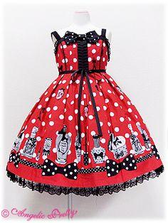 Angelic Pretty / Jumper Skirt / Fantasic Dolly High Waist JSK