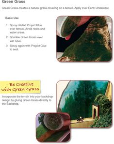 Create a grassy landscape for your school project or diorama with these easy tips from Scene-A-Rama.