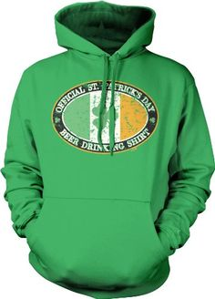 Official St. Patricks Day Beer Drinking Sweatshirt Funny Trendy Hot Drinking Mens Pullover Hoodie XX-Large Kelly