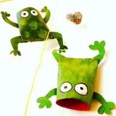 toilet-paper-roll-frog-craft-idea ((FOR PASSOVER))