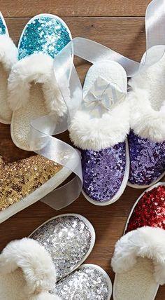 Pretty sequin slippers
