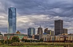 https://flic.kr/p/NVN8L4 | Dark Skies | Downtown Oklahoma City Skyline on a cludy day.