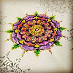 Another mandala started from Chillax Mandala Inspirations & Patterns.