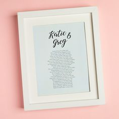 Let us create you a bespoke rhyming verse written about you and your partner! Simply tell us 10 facts and we'll turn them into a cute poem. It's the ultimate personalised gift! Customised Gifts, Personalised Gifts, Personalized Invitations, Personalized Wedding Gifts, Unique Wedding Stationery, Wedding Stationary, Writing About Yourself, Stationary Design, Special People
