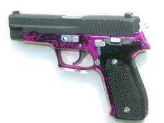 Sig Sauer P226 With Pink & Black Annodized Frame, know someone who would love this...UUmmmm, me!
