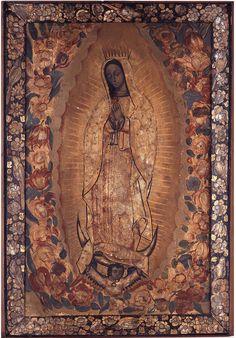 Agustín del Pino, Virgen de Guadalupe, óleo y laca sobre tabla con incrustaciones de concha nácar, sin medidas, ca. 1700, colección: Museo Franz Mayer, catalogación: Juan Carlos Cancino.