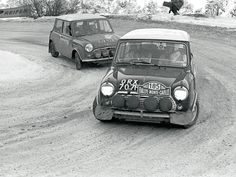 Mini Coopers in the 1966 Monte Carlo rally