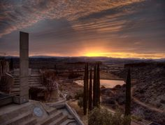 Arcosanti - an experimental town created by Paolo Soleri, intended to house 5,000 people, 70 miles north of Phoenix, USA