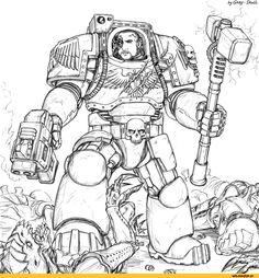 Warhammer 40000,warhammer40000, warhammer40k, warhammer 40k, ваха, сорокотысячник,фэндомы,Gray-Skull,Terminator Squad,Space Marine,Adeptus Astartes,Imperium,Империум,space hulk,Wh Games,Wh Other,deathwing (wh 40000),Dark Angels,genestealer,Genestealer Cult,Tyranids,Тираниды,сделал сам,нарисовал