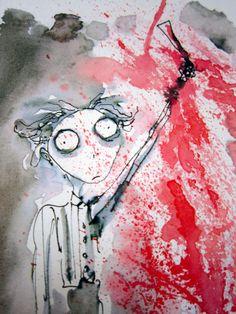 Sweeney Todd Concept Art, by Tim Burton. Pop art, film art.