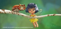 So cute!  Fairy and Owl by `imaginism  Digital Art / Paintings & Airbrushing / Illustrations / Storybook©2007-2012 `imaginism