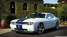 Dodge Challenger Srt8 Blue Stripes Wallpaper 1080p HD