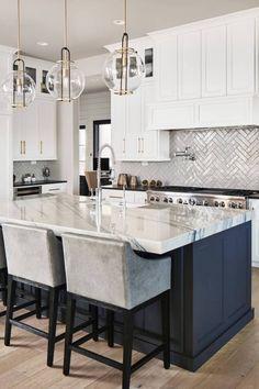 Gray Kitchen Cabinet Makeover Design Ideas 15 Houzz Com Kitchen Gray Kitchen Cabinet Makeover De White Kitchen Design Kitchen Remodel Home Decor Kitchen