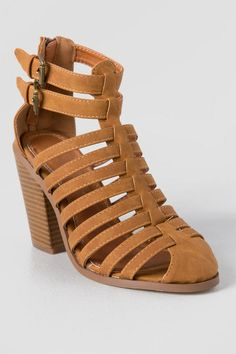 """The Tiramisu Heeled Sandal is sweeter than Sunday night dessert at Nonna's. These sandals feature a caged, closed toe upper on a 4"""" heel. Pair these sandals with any summer dress and stretch their wear as a transitional piece with jeans and slinky tees into fall."""