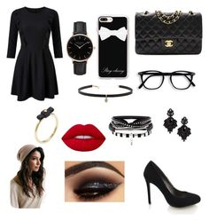 """Dinner"" by ellaxbrooke on Polyvore featuring Miss Selfridge, Chanel, Casetify, Topshop, Tasha, Carbon & Hyde, Marc by Marc Jacobs and Lime Crime"