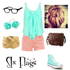 """""""SIx Flags"""" by mugsiemarie on Polyvore"""