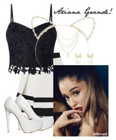 """Ariana Grande inspired! #ariana #grande"" by mezzymezmez on Polyvore featuring Lipsy and Qupid"